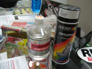 Материалы для покраски руля