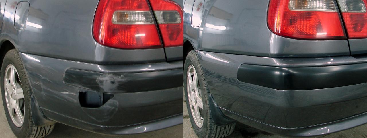 До и после частичной покраски автомобиля