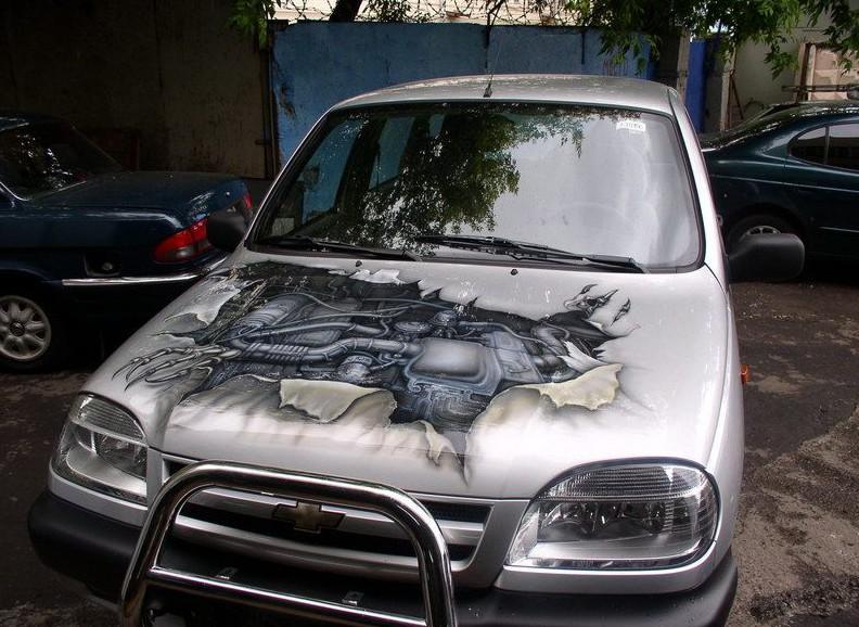 фото рисунки 3д на автомобилях