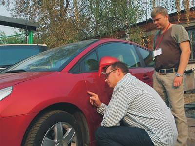 Проверка качества покраски авто