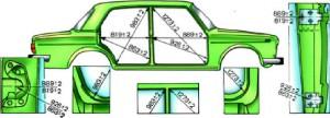 Ваз 2106 геометрические размеры кузова