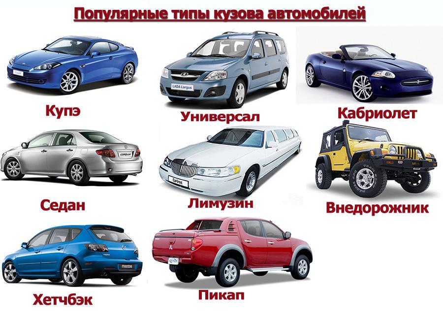типы кузова легковых автомобилей выяснилось