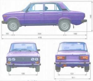 Ваз 2106 контрольные размеры кузова