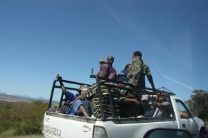 Пикап перевозка людей в кузове