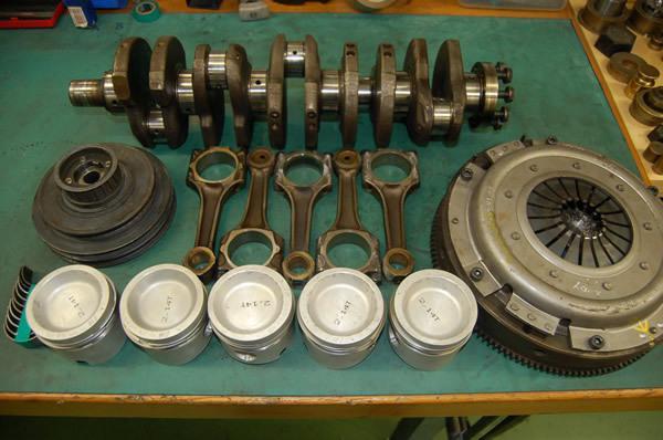 Детали мотора, подлежащие балансировке