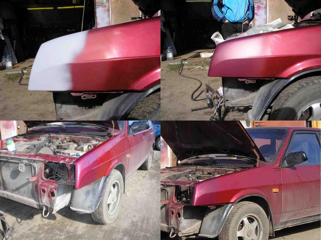 Кузовной ремонт ваз 2109 ремонт своими руками