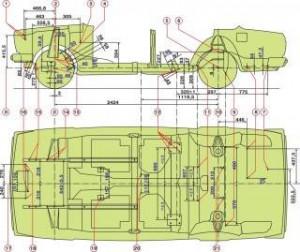 Размеры кузова геометрия Ваз 2107