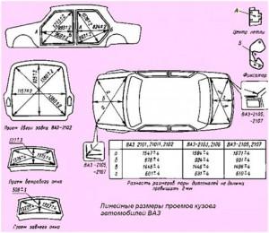Контрольные размеры кузова ваз 2107 пол