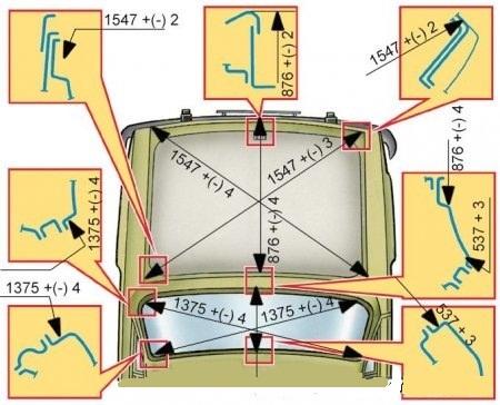 Ваз 2101 размеры кузова спереди