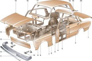 Отличительные черты кузова Ваз 2107