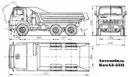 Габаритные размеры модели 5320