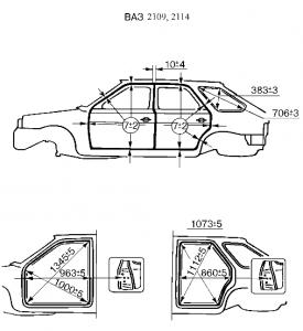 Ваз 2109 геометрия кузова