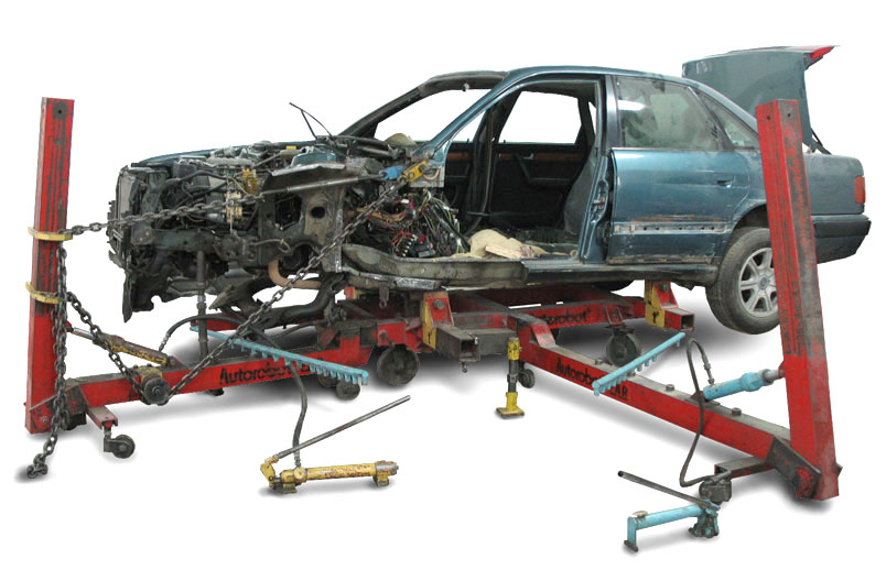 Станина для правки и проверки каркаса автомобиля
