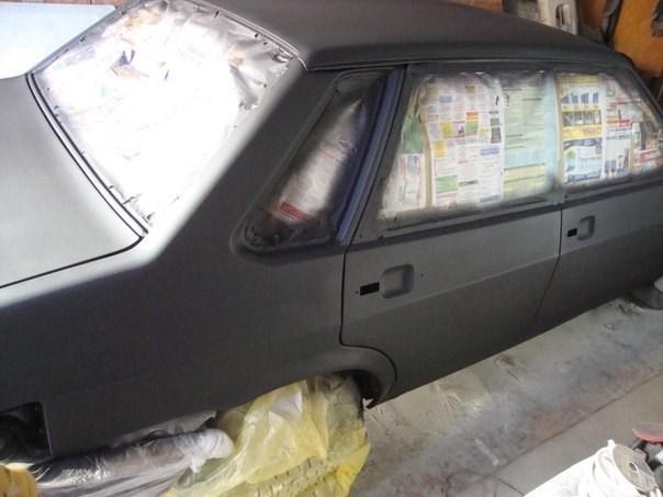Покраска авто ваз 2115 своими руками видео