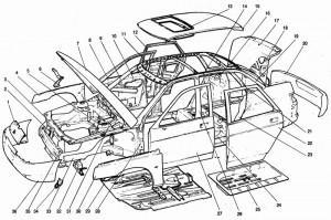 Ваз 2110 кузовные детали
