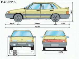 Ваз 2115 длина кузова