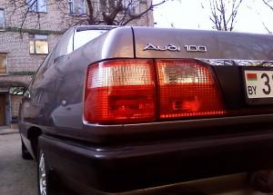 Задняя оптика ингольштадтского автомобиля