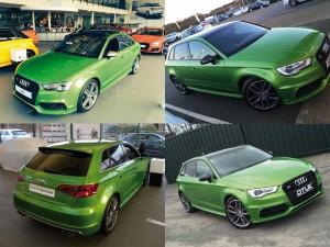 Индивидуальная окраска кузова Ауди в зеленый цвет