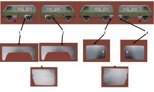 UAZ 2206 кузовные детали