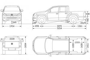 Размеры VW Amarok