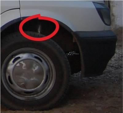 Точка где на Форд Транзит, где расположен номер кузова