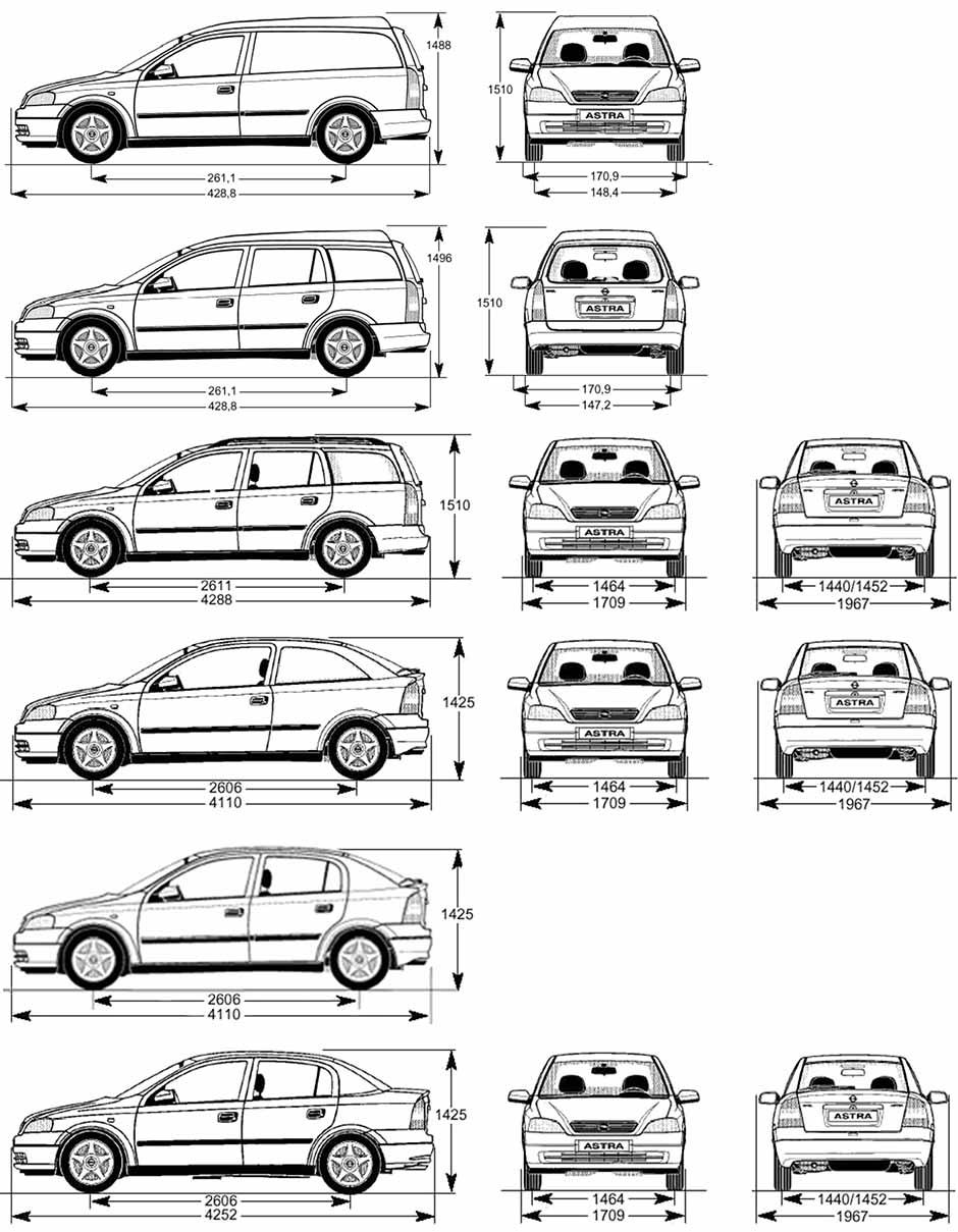 кузовные размеры автомобилей opel omega b