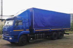 Перевозка грузов на тентованном прицепе