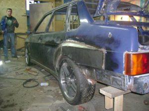 Ремонт задней части кузова 21093