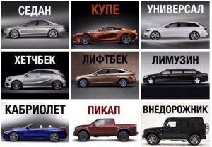 Разновидности кузовов