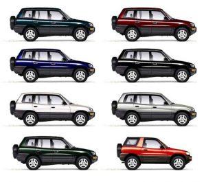 Рав 4 цвета автокузова