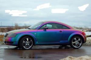 Как покрасить машину в хамелеон