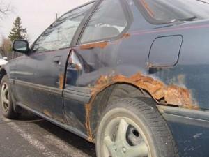 Покраска ржавчины на автомобиле