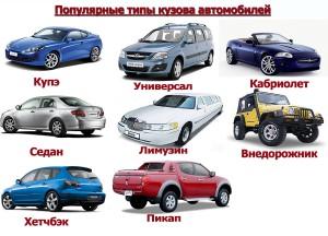 Типы кузова автомобилей легковых и их фото