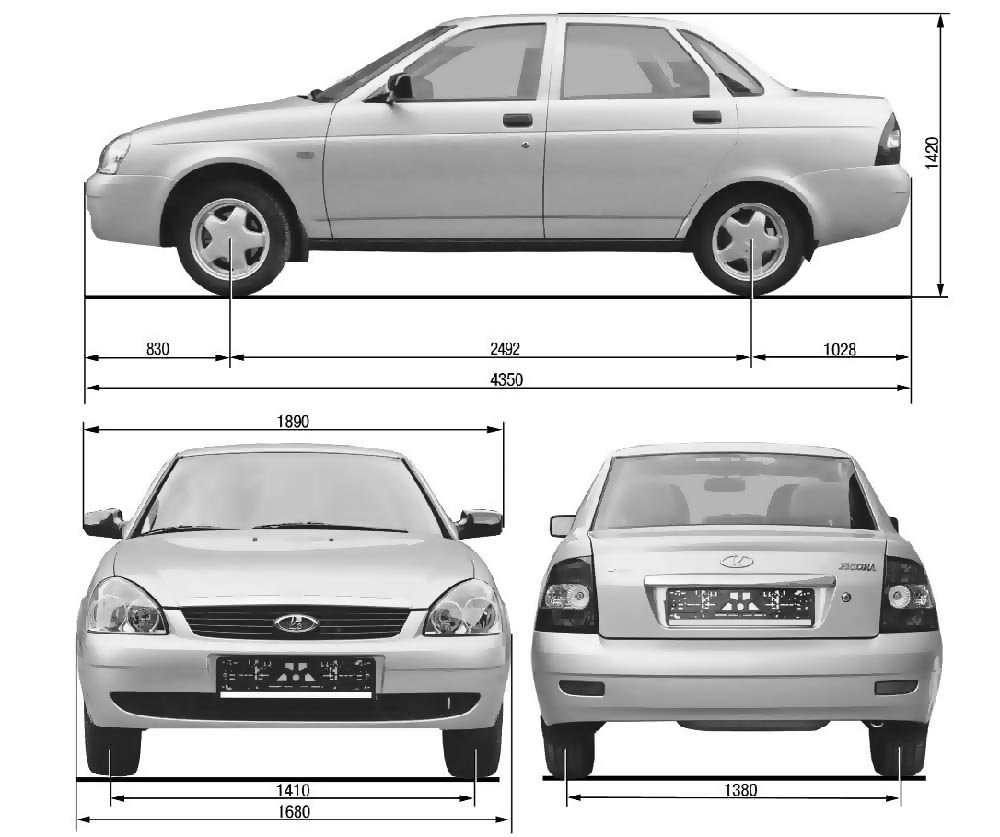 Типы кузова схема